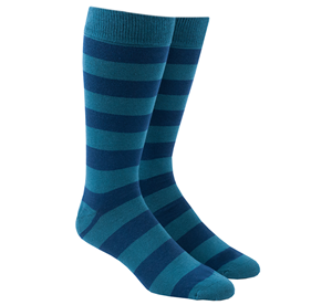 Super Stripe Washed Teal Men's Socks