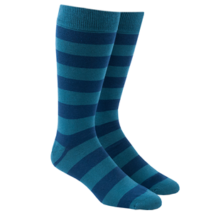 super stripe washed teal dress socks