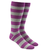 Men's Socks - SUPER STRIPE - AZALEA