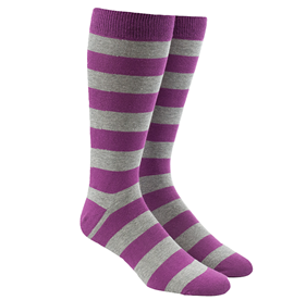 Super Stripe Azalea Men's Socks