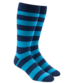 Men's Socks - SUPER STRIPE - AQUA
