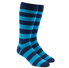 Super Stripe Aqua Men's Socks