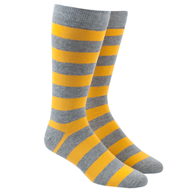 Yellow Super Stripe mens socks