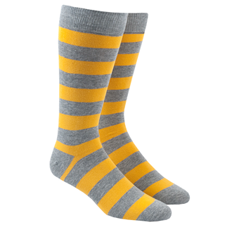 super stripe yellow dress socks