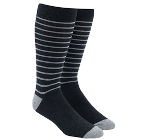 Charcoal Woodland Stripe mens socks