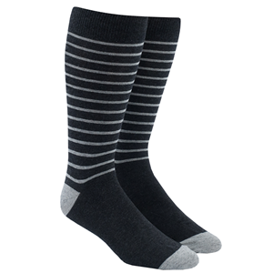 woodland stripe charcoal dress socks