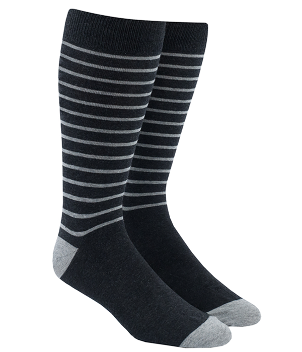 Woodland Stripe Charcoal Socks