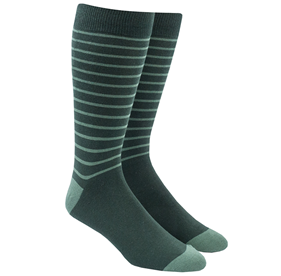 Woodland Stripe Greens Men's Socks