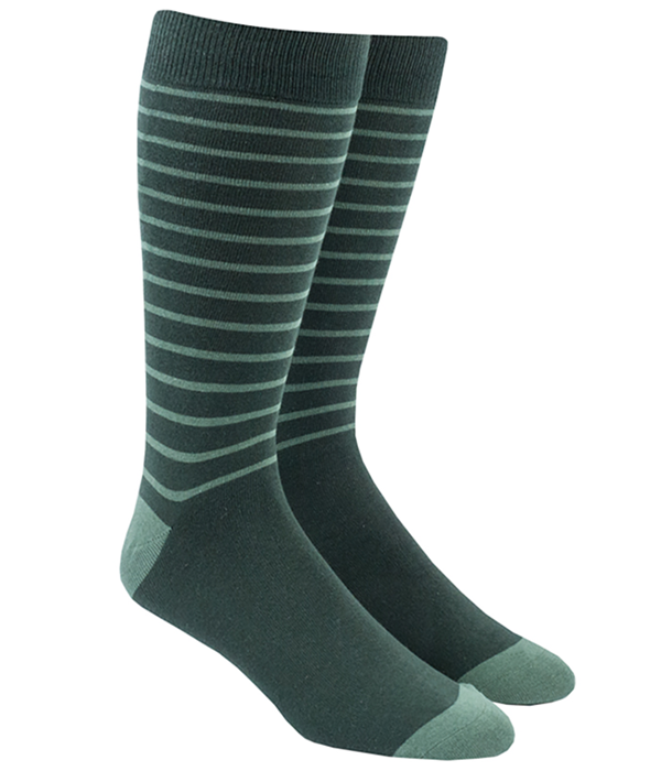 Woodland Stripe Greens Socks