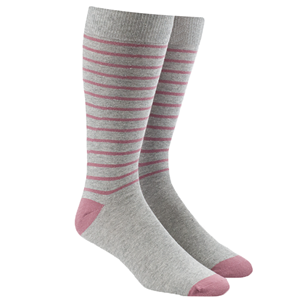 woodland stripe grey dress socks