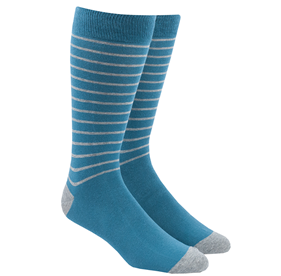Washed Teal Woodland Stripe mens socks
