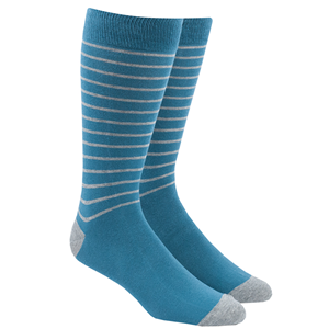 woodland stripe washed teal dress socks