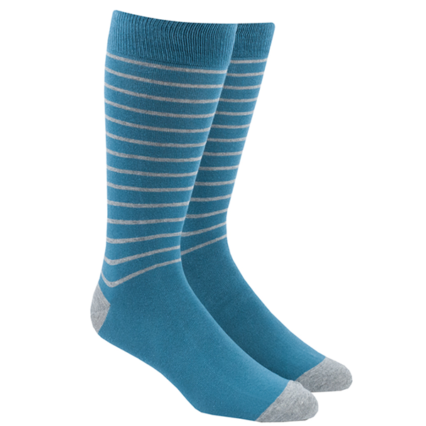 Washed Teal Woodland Stripe Socks