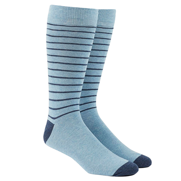 Light Blue Woodland Stripe Socks