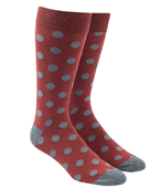 Men's Socks - COMMON DOTS - BRICK