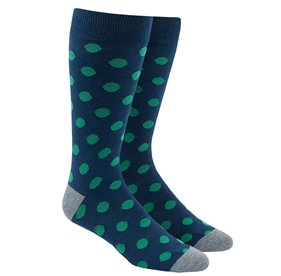 Green Common Dots mens socks