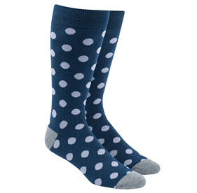 Lavender Common Dots mens socks