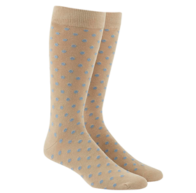 Light Blue Circuit Dots mens socks