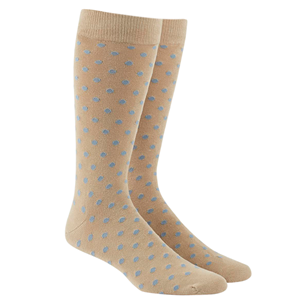 circuit dots light blue dress socks
