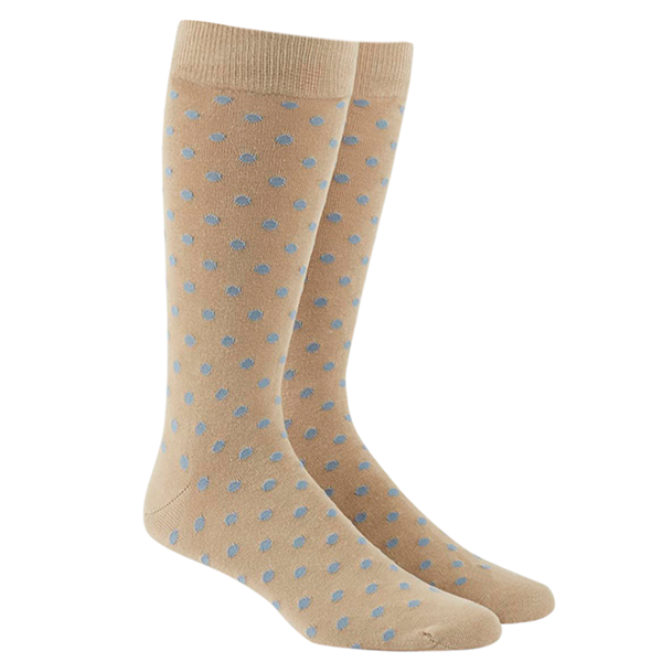 Light Blue Circuit Dots Socks