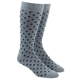 Navy Circuit Dots mens socks