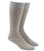 Men's Socks - CIRCUIT DOTS - Yellow