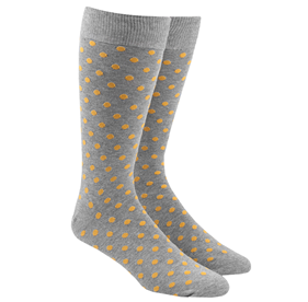 Yellow Circuit Dots mens socks