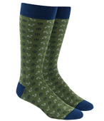 Men's Socks - WHEEL AND ANCHOR - GREEN