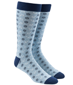 Men's Socks - WHEEL AND ANCHOR - LIGHT BLUE