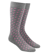 Men's Socks - FLAMINGO DANCER - Grey