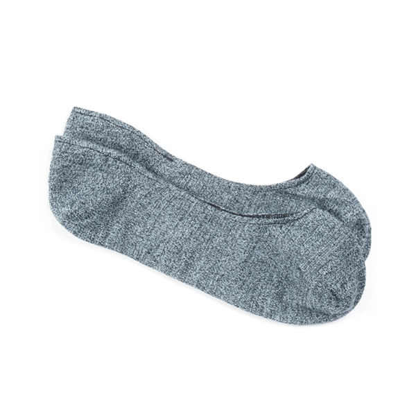 Blue Textured Solid No-Show Socks