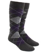 Men's Socks - ARGYLE - CHARCOAL