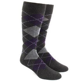 Charcoal Argyle mens socks