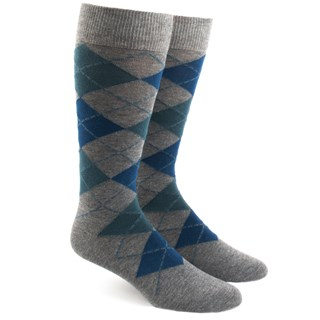 Argyle Teal Dress Socks
