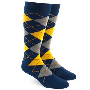 argyle yellow dress socks