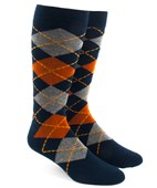 Men's Socks - ARGYLE - ORANGE