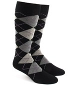 Men's Socks - Argyle - Black