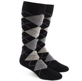Warm Grey Argyle mens socks
