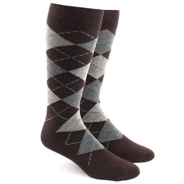 Brown Argyle Socks