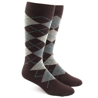 argyle brown dress socks
