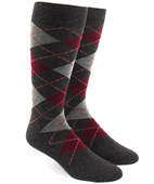 Men's Socks - Argyle - Reds