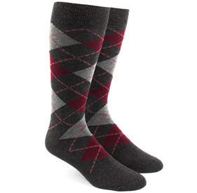 Argyle Reds Men's Socks