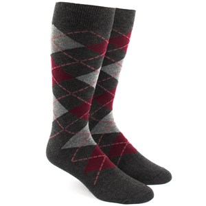 argyle reds dress socks