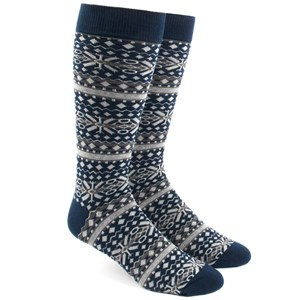 fair isle navy dress socks