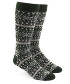 Men's Socks - FAIR ISLE - HUNTER GREEN