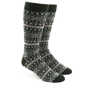 Hunter Green Fair Isle mens socks
