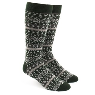fair isle hunter green dress socks