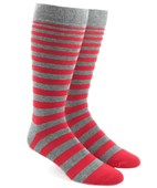 Men's Socks - Ombre Stripe - Apple Red