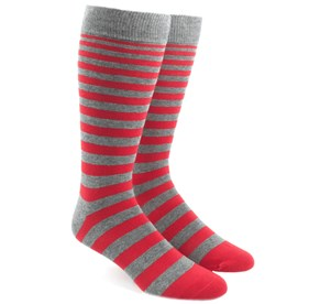 Apple Red Ombre Stripe mens socks
