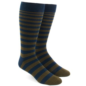 ombre stripe army green dress socks